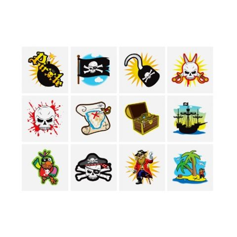 Pirates - Pack of 12 Mini Tattoos